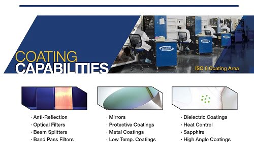 UV VIS NIR Coating by Newport Thin FIlm Lab
