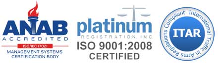 ISO, ITAR and ANAB certifications from RROI