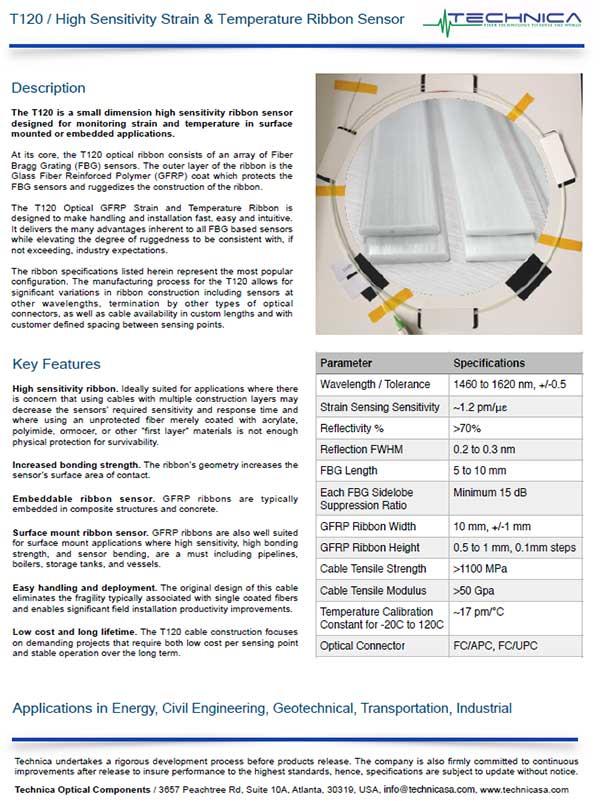 Technica T120 Ribbon Sensors