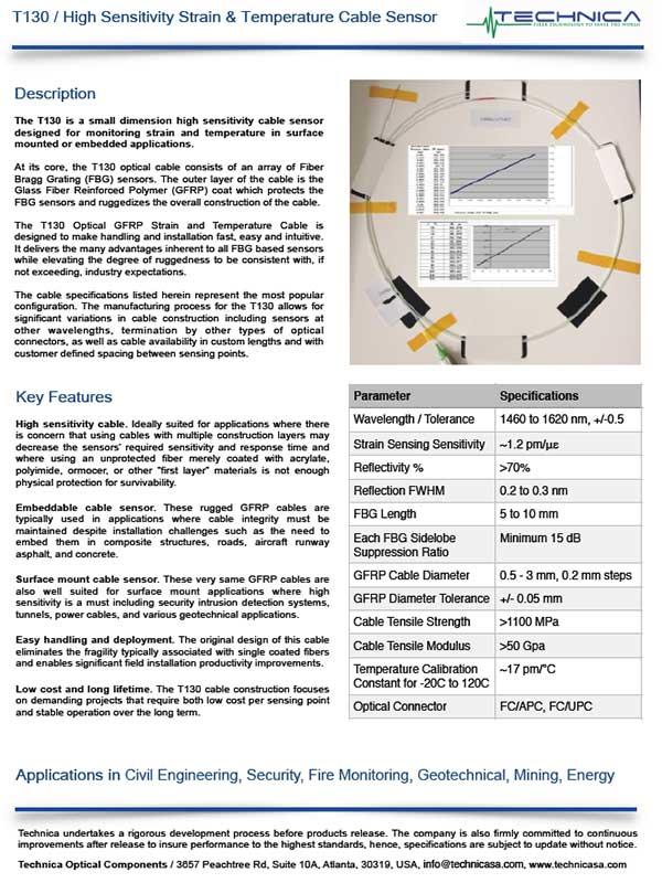 Technica T130_Strain and Temp Sensor