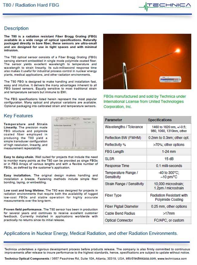 Technica T80 radiation hard fbg