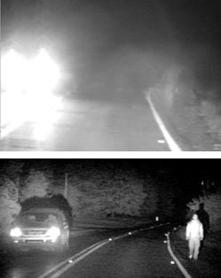 automotive night vision enhanced by near infrared technology