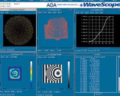 The user interface for the WaveScope wavefront sensor.