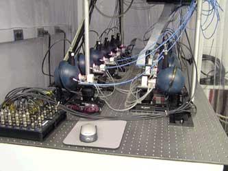 A NASA laser life testing station.