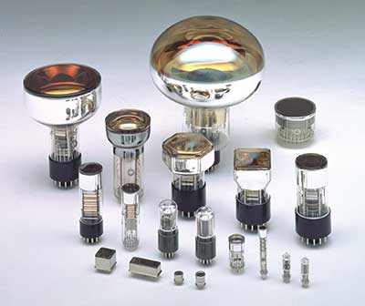 Photomultipliers come in a variety of shapes and sizes.