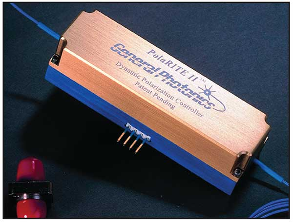 A fiber-squeezer-based dynamic polarization controller.