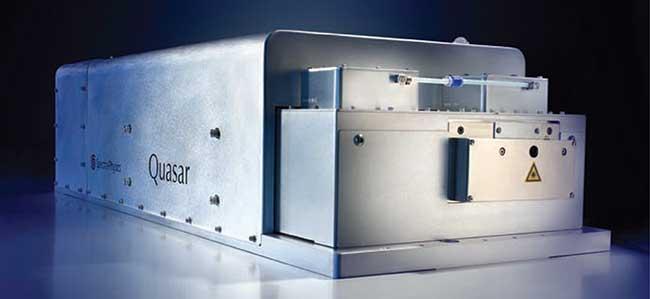 A hybrid fiber/DPSS laser.