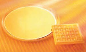 Nanopatterned wafers are diced into nano-optic chips for application in optical systems.