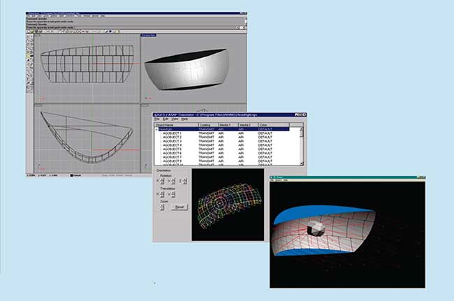 Translation of a CAD-based system into ASAP.