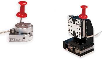 Miniature piezo inertia motor-driven nanopositioning stages.
