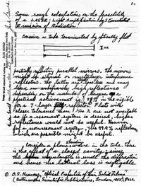 Gordon Gould's famous notebook