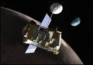 While orbiting the moon, the Lunar Reconnaissance Orbiter will take pictures and gather information about the moon's surface.