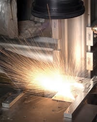 Remote laser cutting.