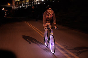 Pedal Powered Leds Light Up Bike Wheels Research Technology