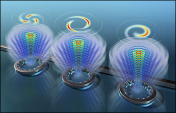 An international group of universities in England, Scotland and China generated twisted light on a silicon chip one thousand times smaller than any previously reported device.