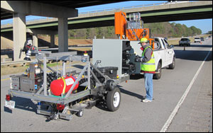 An automated crack sealing system would increase the level of safety for the workers involved, require fewer personnel, and increase the amount of roadway covered per day.