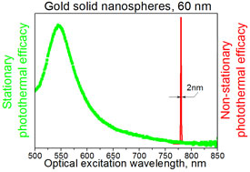 The strong response of plasmonic gold nanoparticles to pulsed (nonstationary) lasers rather than continous (stationary) excitation by lasers seems to result from the influence of nanobubbles on the particles, according to researchers at Rice University.