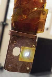 platinum-rich polymer light laser beam