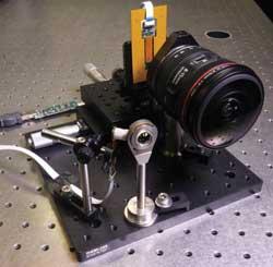 fiber-coupled monocentric lens camera