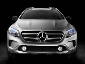 The Mercedes-Benz Concept GLA with laser headlights debuted at the Shanghai auto show this week.