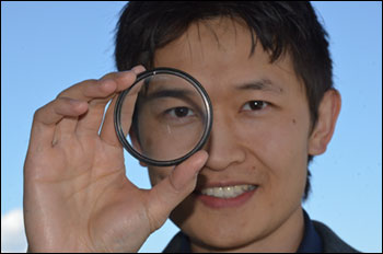 Kenneth Chau, University of British Columbia, is excited about the newly published research that explains how he and his colleagues at NIST developed a metamaterial that can be sprayed onto a surface, where it acts as a lens.