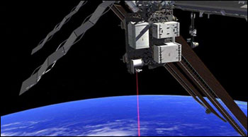 The OPALS flight system, developed at JPL, will beam down to Earth from the International Space Station.