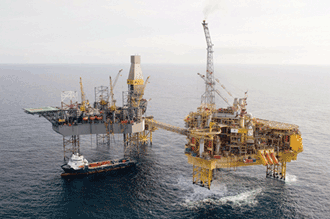 The Elgin Wellhead drilling platform