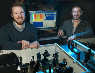 Postdoctoral fellow Erik Busby and staff scientist Dr. Matthew Sfeir.