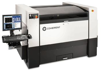 The Coherent Meta 2C is a compact CO<sub>2</sub> laser-based machine tool used at Intersign for plastics processing.