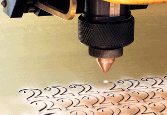 Laser cutting offers faster processing speeds and less postcutting processing than a router.