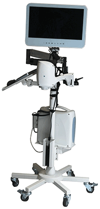 The iStand expands the clinical utility of the iVue OCT system by allowing patients to be scanned in supine and various other conditions.