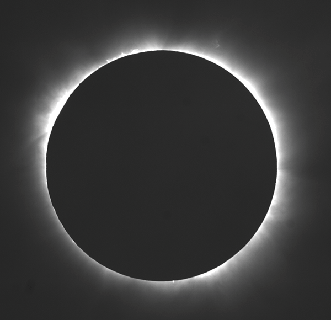 A solar eclipse in Gabon, Africa, on Nov. 3, 2013.