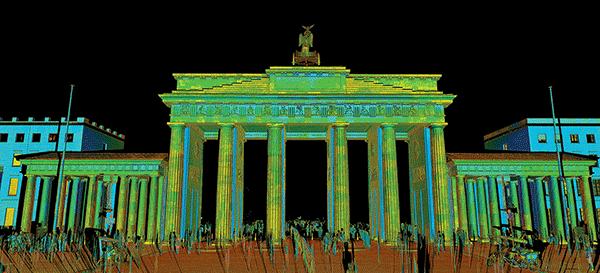 Laser data of Germany's Brandenburg Gate, as captured by CyArk.