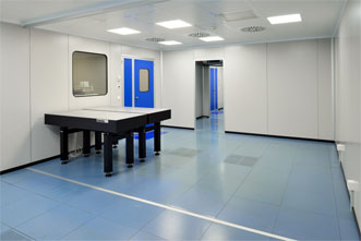 A cleanroom at the new Regensdorf facility.