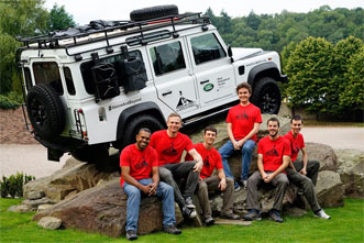 The Trail by Fire team, from left to right, includes Philipson Bani, Ian Schipper, Aaron Curtis, Talfan Barnie, Nial Peters and Yves Moussallam.