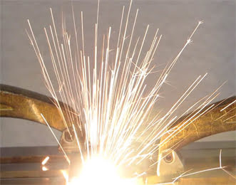 Laser welding of steel to aluminum.