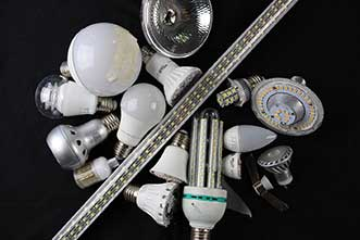 To recycle LED-based lighting elements efficiently, they must first be broken down into their constituent parts.
