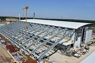 The Extreme Light Infrastructure-Nuclear Physics (ELI-NP) facility, currently under construction in M?agurele, Romania.