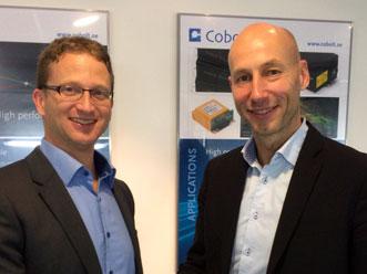 Hübner board member Ingolf Cedra and and Cobolt CEO Håkan Karlsson.
