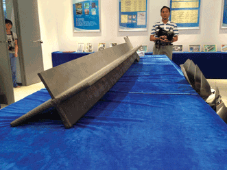 The wing spar, set to be installed in a Comac C919 airplane in 2016.