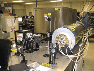 This one-ton laser combines IR pulses and terahertz radiation to detect even trace amounts of harmful gases in the air from up to 1 km away, and under normal atmospheric pressure.