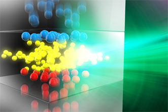 Charge diffusion in the transport region of an OLED.