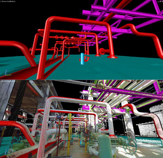 Kubit's PointSense Plant software used with Faro 3-D laser scanning equipment