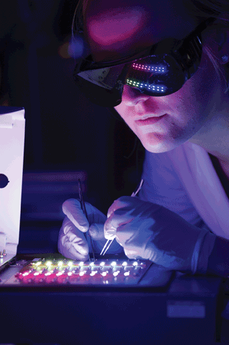Quantum dots being fabricated and tested.