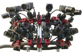 Fourteen machine vision cameras were used to create one of the arrays used in the study.