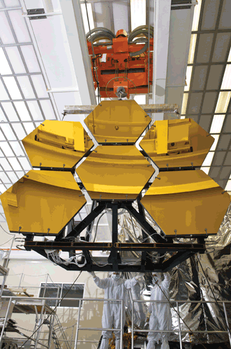 Part of the James Webb Space Telescope (JWST), six of the 18 primary mirrors installed on a thermal vacuum structure will be transported to NASA's Marshall Space Flight Center in Huntsville, Ala.