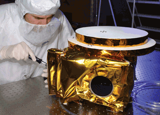 The Ralph Instrument for NASA's New Horizons Mission is shown infinal assembly at Ball Aerospace.