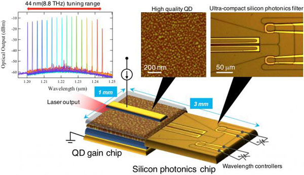 Heterogeneous-wavelength tunable laser diode