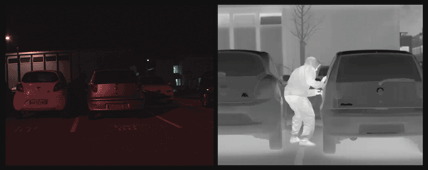 IR imaging is increasingly being used for civilian surveillance and security applications.