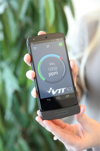 Smartphone gas sensor